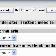 Notificaciones via email